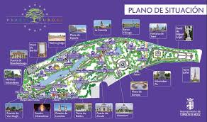 A map of Parque Europa, Madrid.